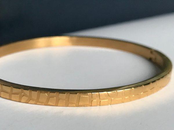 la Beij Armband Krokodil Goud