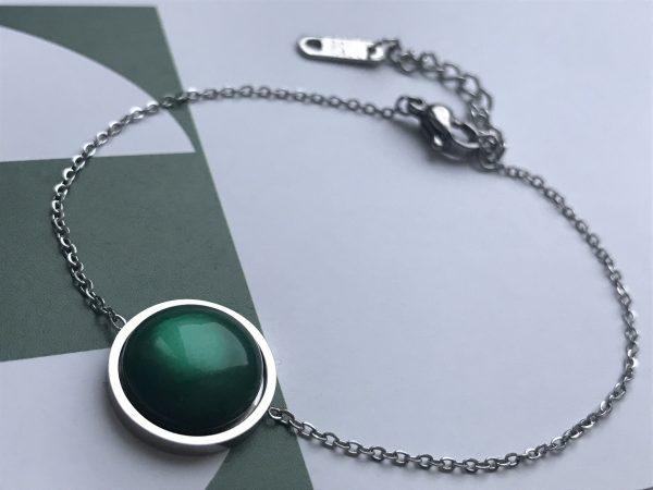 la Beij Armband Zilver Groen