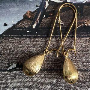 la Beij Oorbel Gouden Druppel Lang