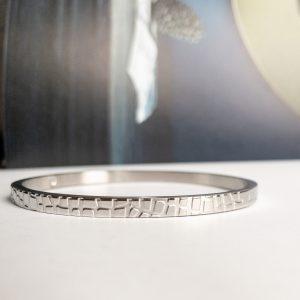 la Beij Armband Krokodil Zilver