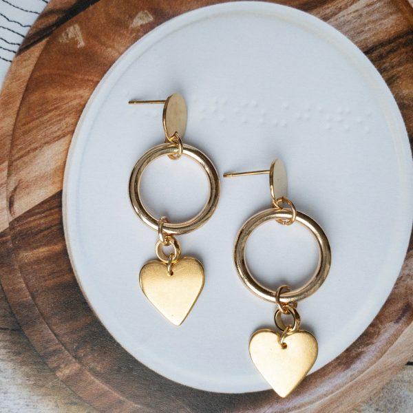 Oorbellen Goud Liefde | la Beij | unieke & stijlvolle sieraden