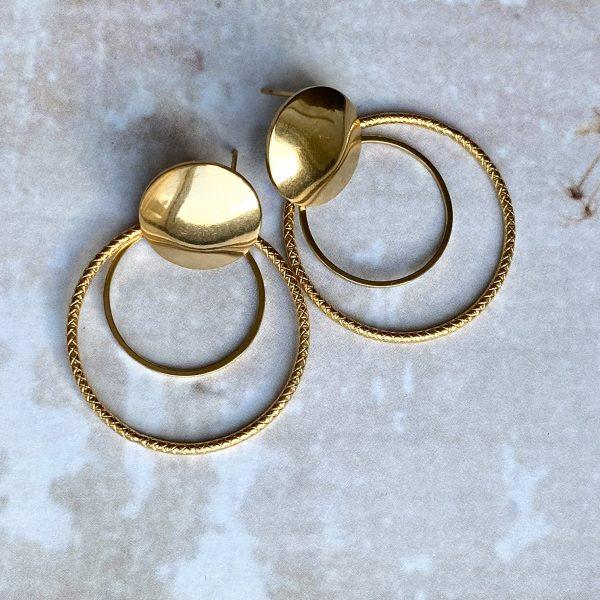 la Beij oorbellen goud cirkel dubbel
