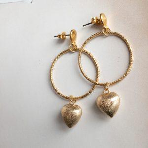 la Beij oorbellen goud hartjes