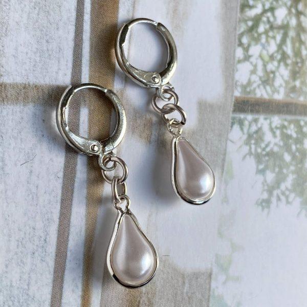 la Beij oorbellen zilver ring druppel parel