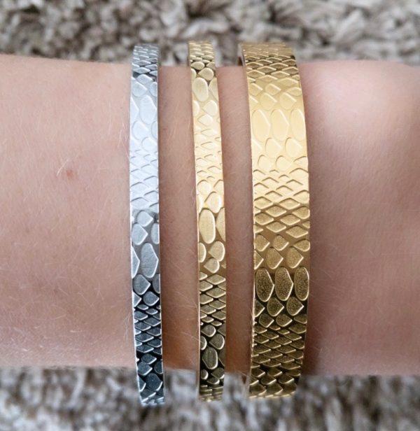 Armband Goud Slang Statement | la Beij | unieke & stijlvolle sieraden